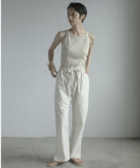【&her】Stripe relax Pants/IVORY