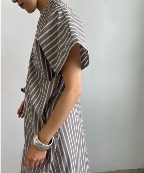 【&her】Stripe Gown Top/BROWN