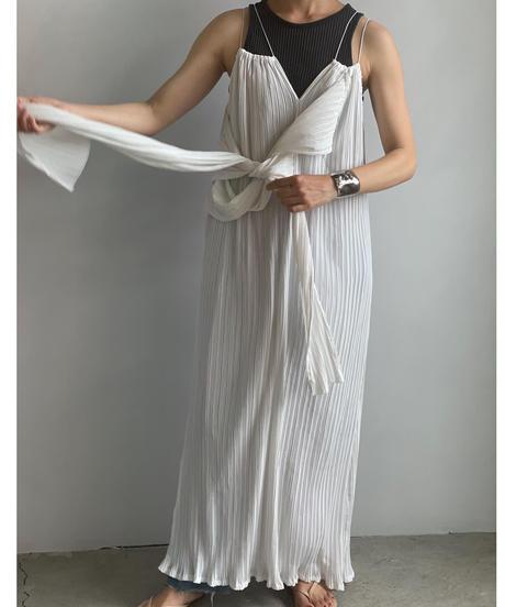 【&her】Pleats Strap Dress/WHITE