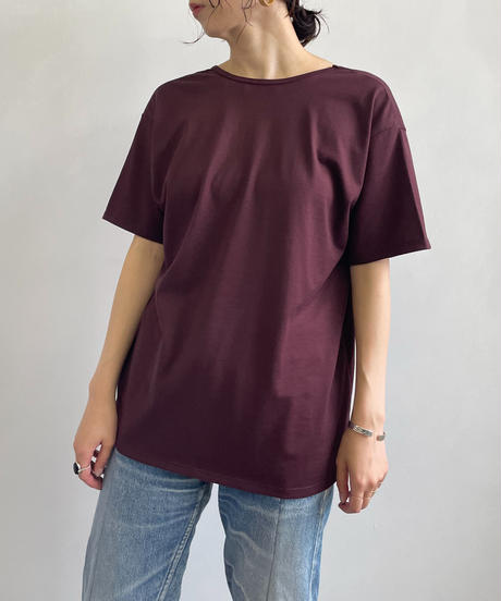 【&her】Back Open Tshirt /BORDEAUX