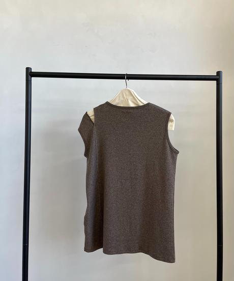 【&her】Melange Top/BROWN