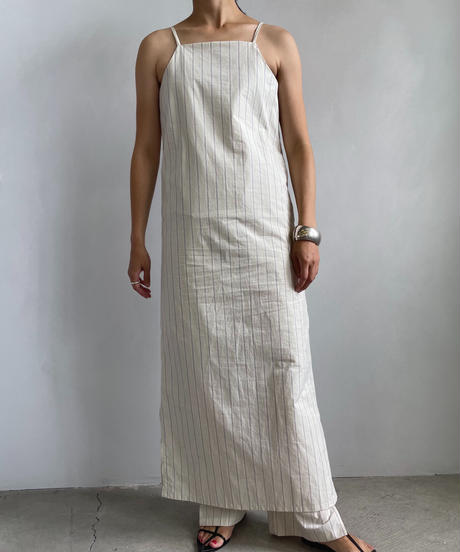 【&her】Stripe Strap  Dress/IVORY
