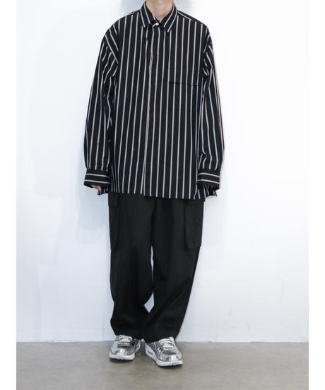 【RePLAY×no.】OVERSIZE STRIPE SHIRTS