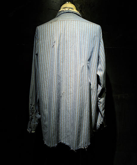 Damage vintage stripe shirt #3