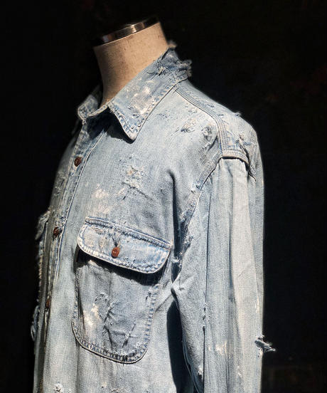 Damage vintage denim shirt