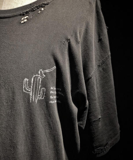Cactus and axe T-shirt OLD BLACK