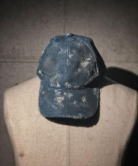 Denim damage CAP indigo