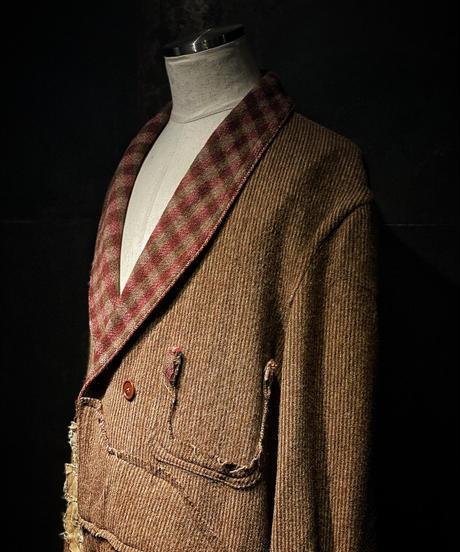 Vintage damage tweed gown