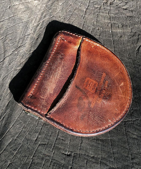 Italian shrink leather Coin case