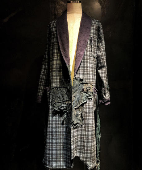 Different fabrics gown coat (襤褸)