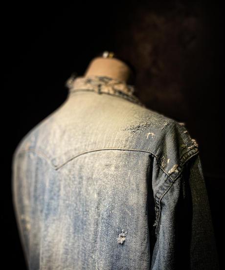 Vintage damage denim shirt #1