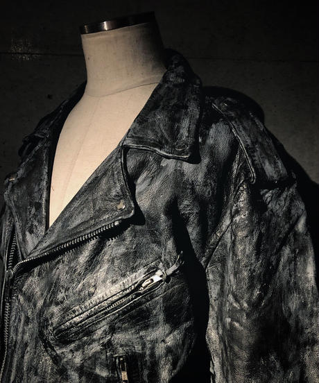 Vintage leather rider's jacket
