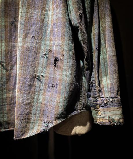 Vintage damage plaid shirt #4
