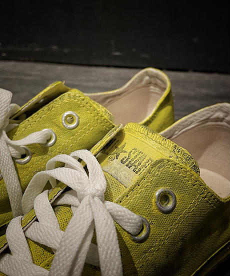 Discoloration Vintage Low cut Sneaker YELLOW