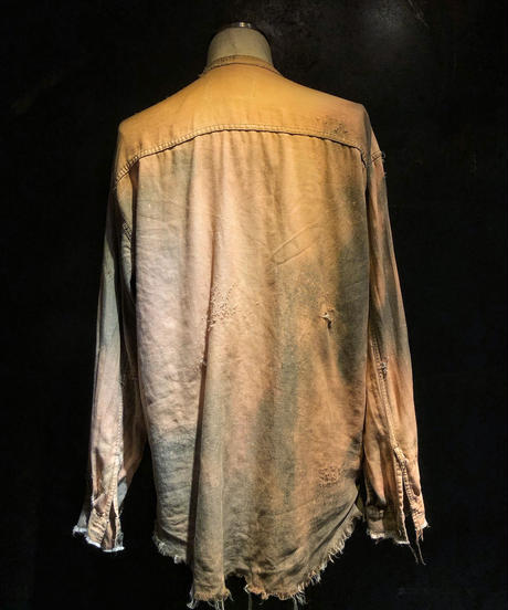 Damage denim shirt