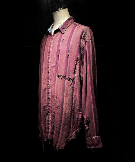 Damage vintage stripe shirt #2