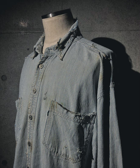 Vintage damage hickory shirt