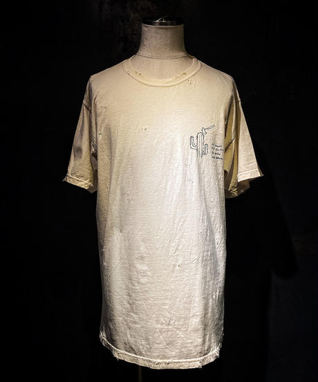 Cactus and axe T-shirt OLD WHITE