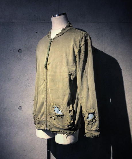 Different fabrics sewn MA-1 jacket