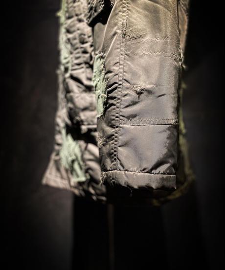 Vintage damage patchwork N-3B jacket