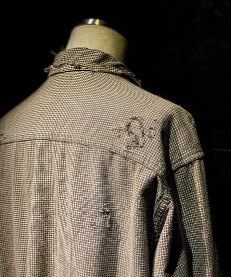 Damage vintage plaid shirt #4