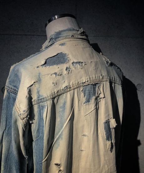 Vintage damage&dye denim shirt