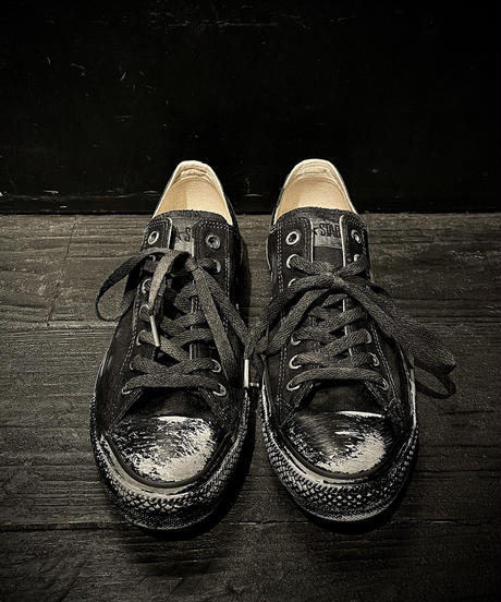 Discoloration Vintage Low cut Sneaker OLD BLACK