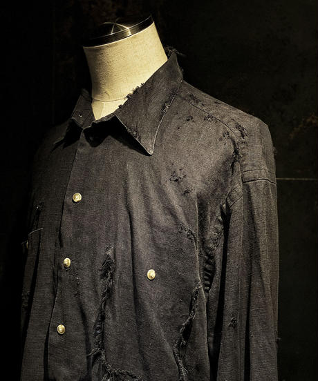 Vintage damage linen shirt #2