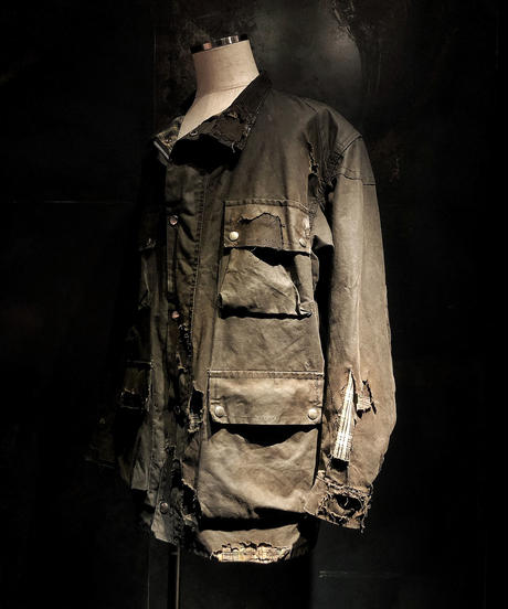 Vintage damage black military jacket