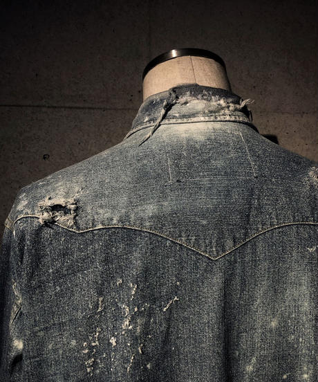 Vintage damage denim shirt