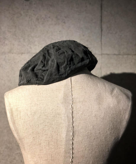 Bio wash vintage old black beret