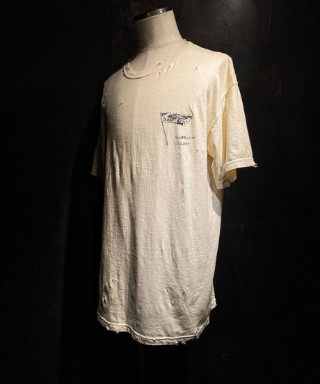 FLAGSHIP SHOP 1st anniversary limited design T-shirt (old white)