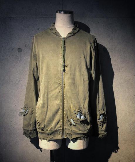 Different fabrics sewn MA-1 jacket