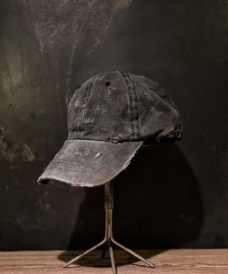 Vintage damage CAP (BLACK)