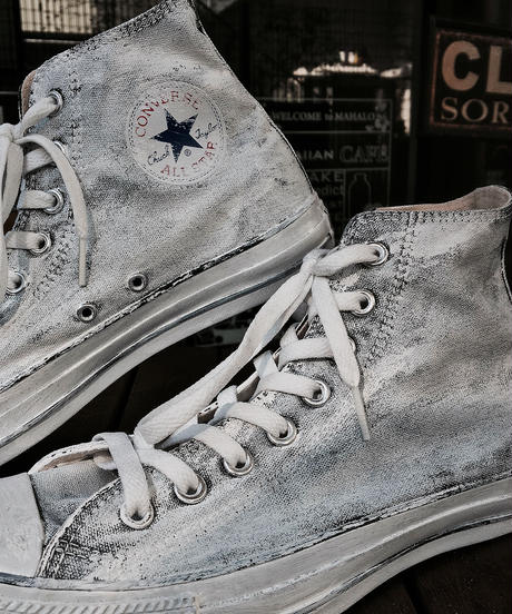 Discoloration Vintage High cut Sneaker WHITE