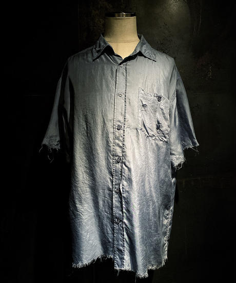 Damage half shirt (silk100%)