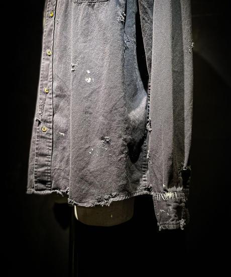 Vintage damage military shirt