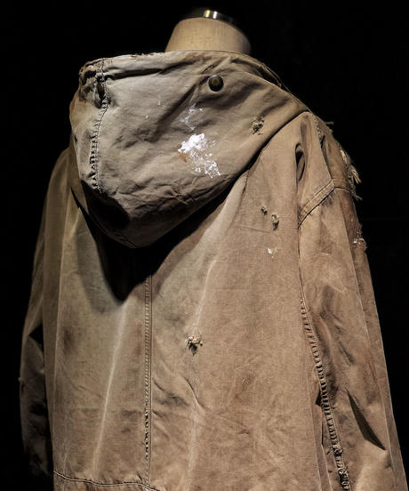 Vintage damage military coat jacket