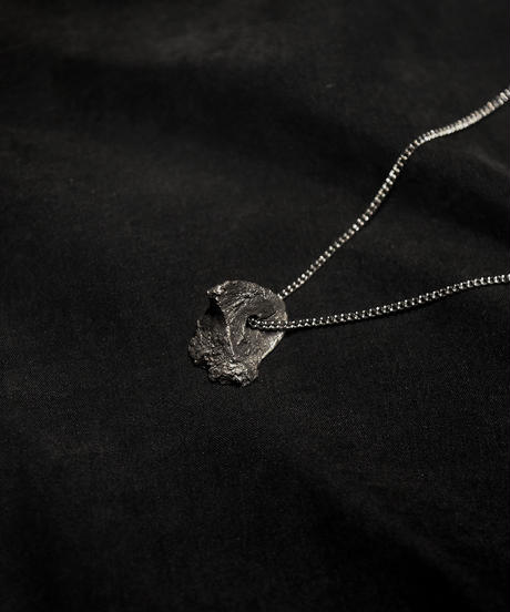 Silver distorted rock Necklace