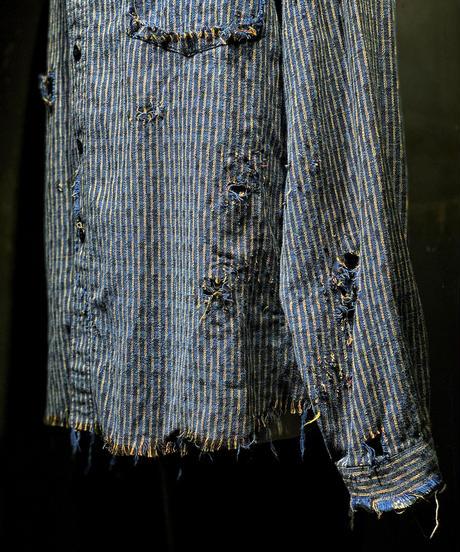 Vintage damage pattern shirt #1