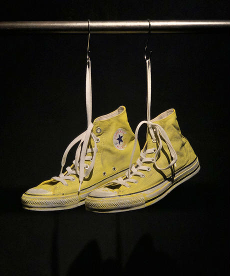 Discoloration Vintage High cut Sneaker YELLOW
