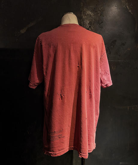 Vintage dye damage T-shirt (Old red)