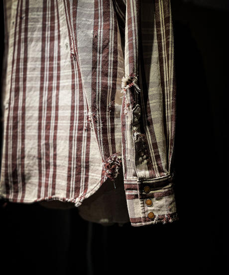 Vintage damage plaid shirt #2