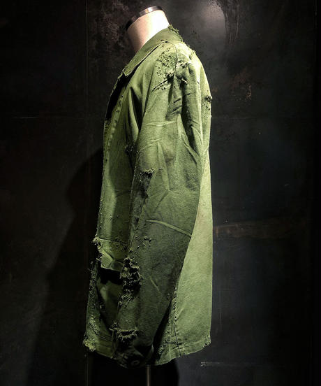 Damage vintage military coverall jacket
