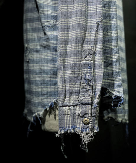 Vintage damage check shirt #1