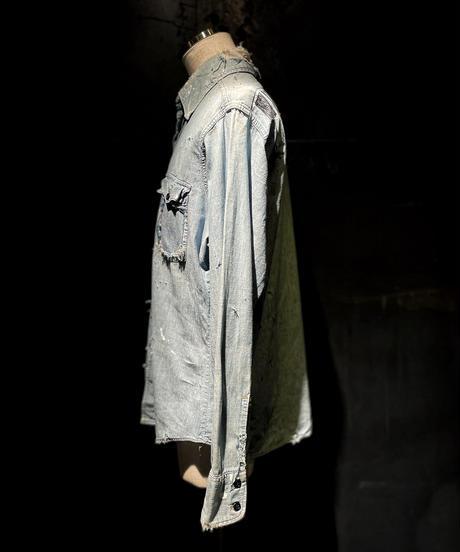KIYOHARU × RESURRECTIO Denim shirt #3