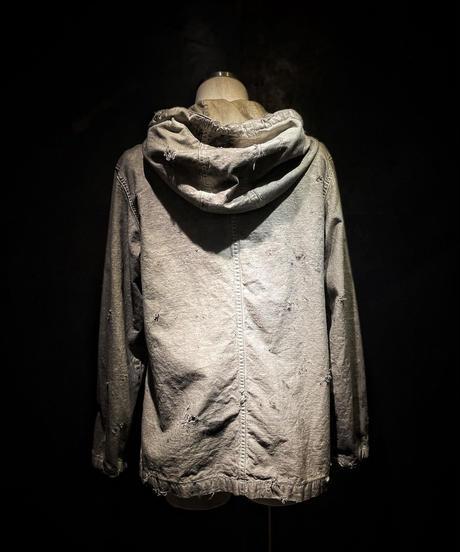 Vintage damage dye hoodie