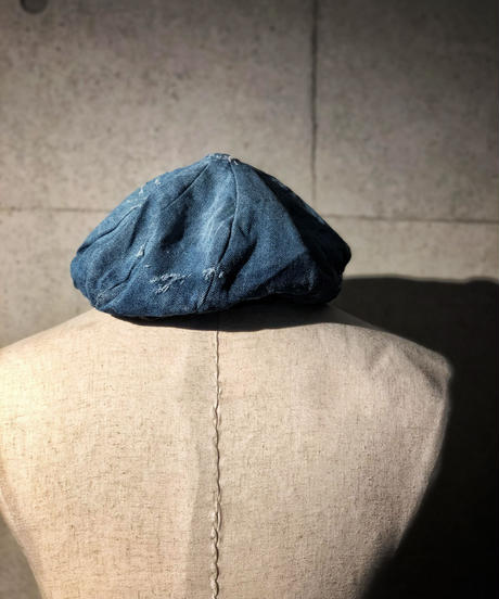 Bio wash vintage denim beret