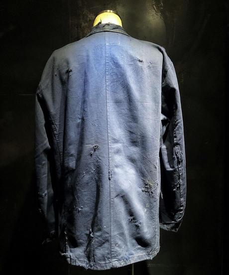 Vintage damage navy cover all jacket