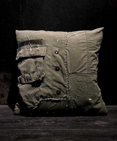 Military patchwork cushion
